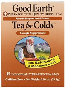 Good Earth Tea for Colds, 15-Count Tea Bags (Pack of 6)
