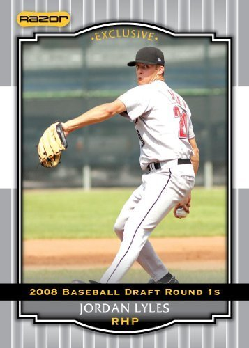 Silver Limited Edition Baseball Cards - 2008 Razor Signature Series Silver Limited Edition Baseball Card # 42 Jordan Lyles (Prospect - RC - Rookie Card) Houston Astros - MLB Baseball Trading Card