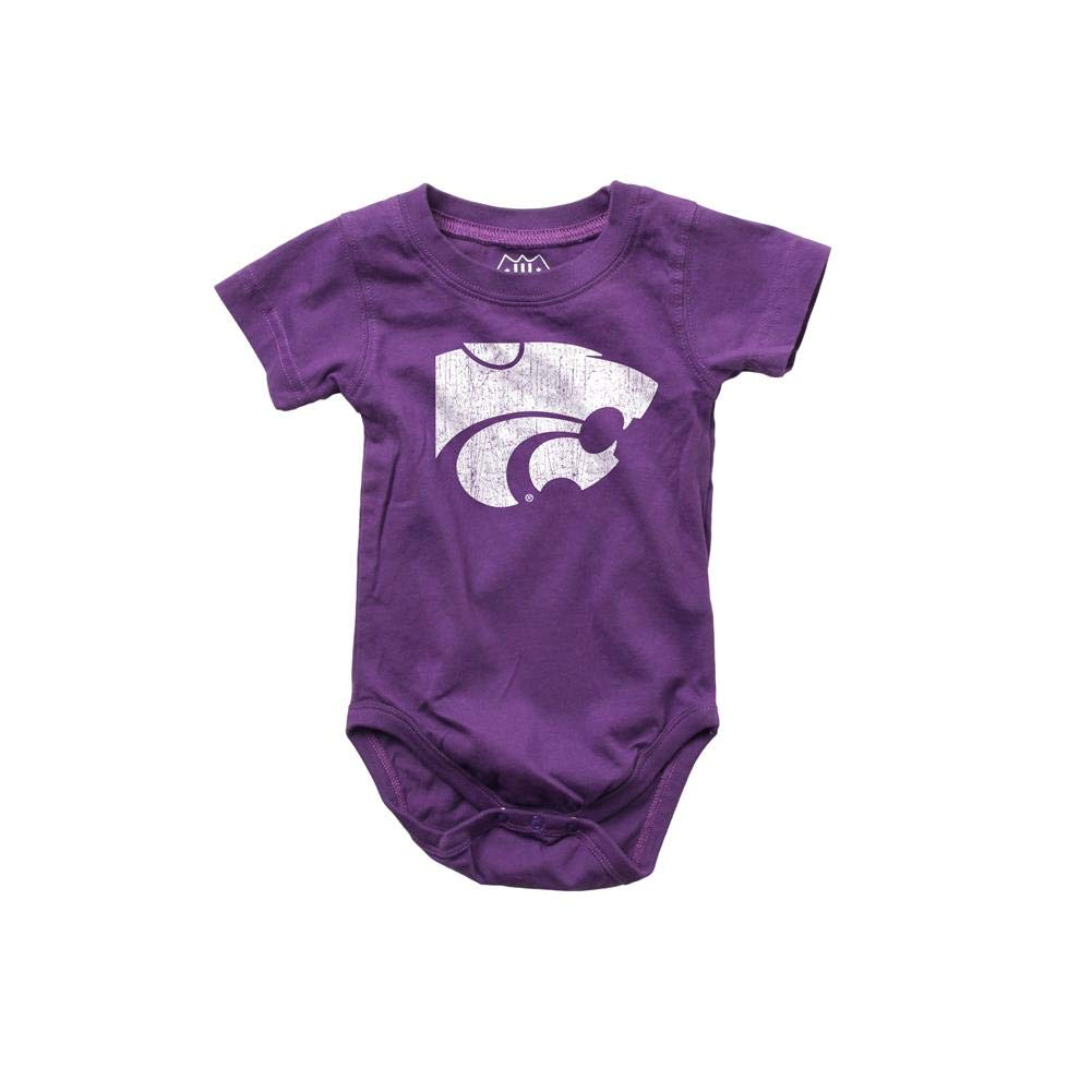 Wes and Willy Infant Kansas State University Bodysuits 3 Pack Organic Cotton Set 12 M