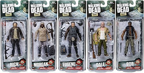McFarlane The Walking Dead Morgan Jones, Dale Horvath, Bob Stookey, Rick Grimes and Eugene Porter TV Series 8 Action Figures Set of 5 by Walking Dead
