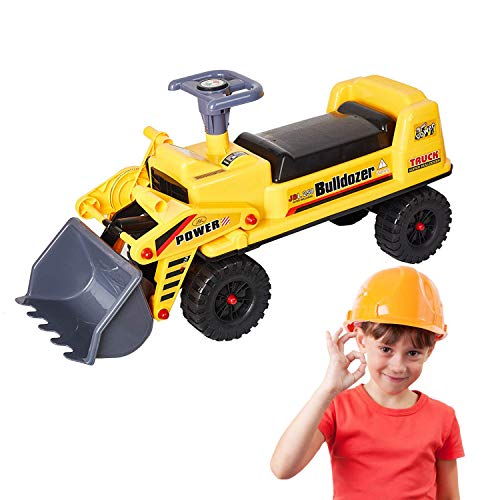 (Dporticus Children Large Toy Pedal Bulldozer Pretending Toy Engineering Construction Truck)