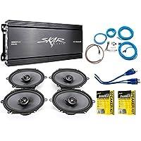 Skar Audio 6x8 Complete Elite Speaker Upgrade Package with Amplifier, Wiring Kit, and Stinger Roadkill Kit