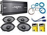 Skar Audio 6'x8' Complete Elite Speaker Upgrade Package with Amplifier, Wiring Kit, and Stinger Roadkill Kit