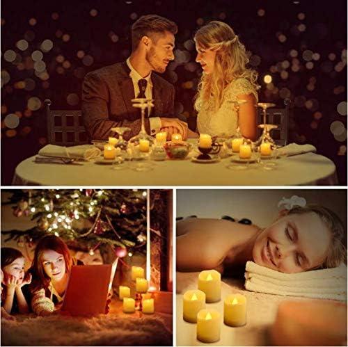 9 LED Kerzen, LED Flammenlose Teelichter Flackern Kerzen mit Fernbedienung, Timerfunktion, Dimmbar, Elektrische Kerze Lichter für Weihnachtsdeko, Party, Geburtstags (Warmweiß)
