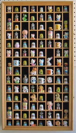 Thimble Display Cabinet with glass door: Amazon.co.uk: Kitchen & Home