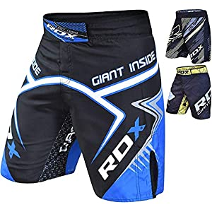 RDX MMA Shorts for Grappling Martial Arts Training, Breathable Fighting Trunks for Kickboxing, Cage Fight, Sparring…
