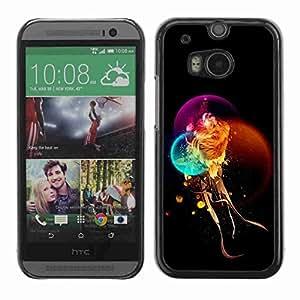 Planetar® ( Fantasy Mystical Lion ) Fundas Cover Cubre Hard Case Cover All New HTC One (M8)