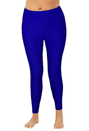 df79aff159d4f Rocorose Women's Plus Size Swim Sport Leggings UPF 50+ Quick Dry Surfing  Tights Blue 10