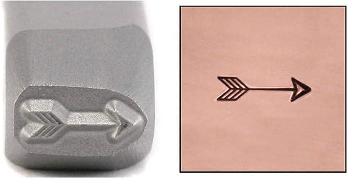 Heart w Arrow Stamp Punch Tool Steel Design Embellish Metal Plastic Jewelry 55