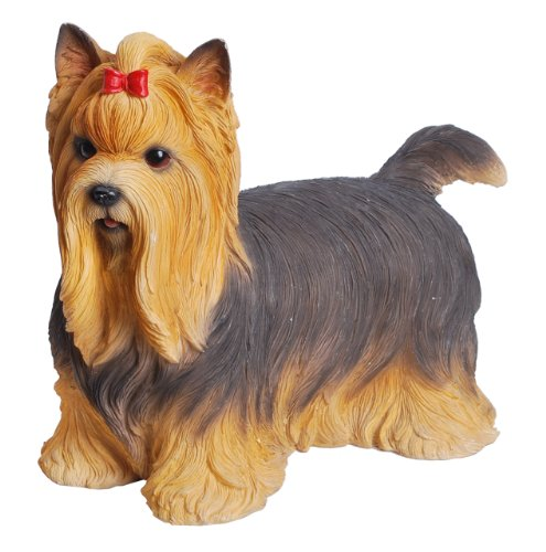 Terrier Figurine (Hi-Line Gift Ltd Yorkshire Terrier Hand Painted Dog Standing Figurine)