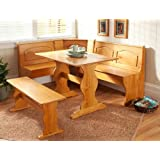 Good Essential Home Emily Breakfast Nook Kitchen Nook Solid Wood Corner Dining  Breakfast Set Table Bench Chair