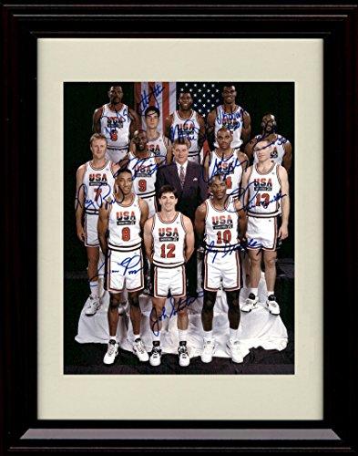 Framed 1992 US Olympic Team Dream Team Autograph Replica Print