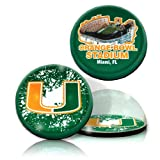 NCAA Miami  University Hurricanes Orange Bowl and Logo in 2'' Ø crystal magnets.  Set of 2 pieces