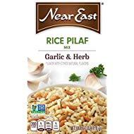 Near East Rice Pilaf Mix, Garlic & Herb 6.3 oz (Pack of 12 Boxes)