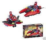 Spiderman SPIDER-MAN Building Block Brick Jet Hovercraft Set