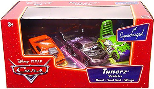 (Disney / Pixar CARS Movie Moments 1:55 Die Cast Figure 3-Pack Series 2 Supercharged Tunerz with Boost, Snot Rod & Wingo )
