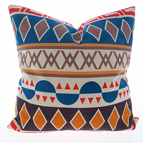 Kingla Home® Colorfull Geometry Cotton Linen Decorative Throw Pillow Covers 18