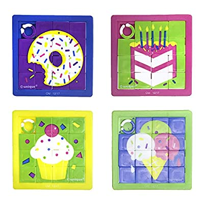 Slide Puzzles 6cm x 6cm, 10 Ct: Toys & Games