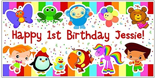 Baby First TV Personalized Custom Birthday Banner Party Backdrop Decoration