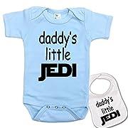 Daddys Little Jedi   Custom Star Wars Baby bodysuit onesie & Matching bib Set