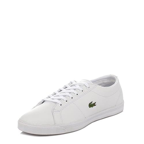 Lacoste Junior Blanco Marcel LCR Zapatillas, Blanco, 39 EU: Amazon.es: Zapatos y complementos