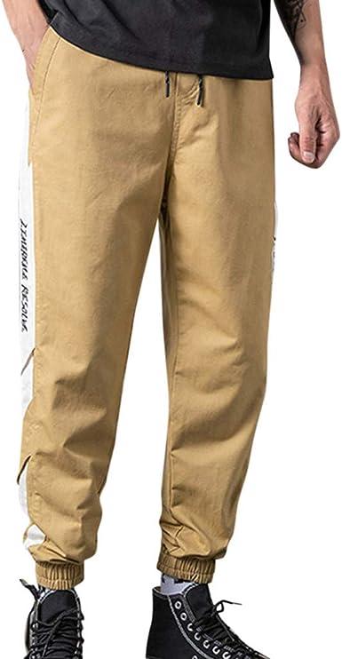 Zodof Pantalones De Hombre Casual Moda Suelto Lino Labor De Retazos Bolsillos Mono Pantalones Hasta El Tobillo Pantalones Largos Pantalones De Hombre Baratos Amazon Es Ropa Y Accesorios