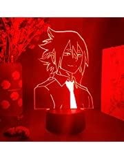 3D Illusielamp LED Nachtlampje Nieuwe aankomst Lichten Anime My Hero Academia Figuur Tamaki Amajiki Gezichtssilhouetten Visuele nachtlamp Acryl Verlichting Jongen Meisje