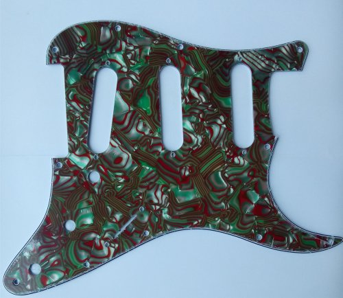 Kmise Z4705 Set Breen Shell Guitar Pickguard Back Plate Tremolo Cavity & Pickup Cover by Kmise (Image #4)