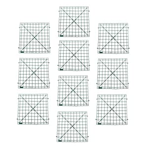 Fityle 10Pcs/Set Wall Plastic Panel Holder for DIY Wedding Flower Floral Backdrop 42