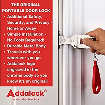 Portable Door Lock AirBNB Lock Travel Lock School Lockdown Lock,Safety Lock for Travel,Home,Apartment Living,Hotel and More