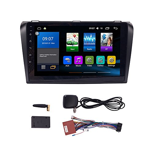 KUNFINE Octa Core Android 7.1 Car DVD GPS Navigation Autoradio Car Stereo Multimedia Player Car Radio for Mazda 3 2006 2007 2008 2009 2010 2011 2012 2013 Headunit Supports Steering Wheel Control