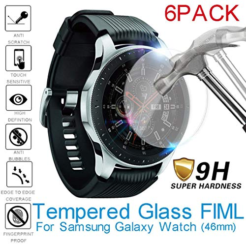 - Unpara 3Pc/6Pc 2.5D 9 Hardness Tempered Glass Screen Protector Film for Samsung Galaxy Watch 46MM (6pc)