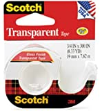 Scotch Transparent Tape, 3/4 X 300 Inch