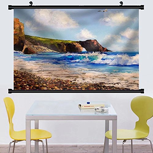 Gzhihine Wall Scroll Oil Painting on Canvas the River Watercolor Wallpaper Tree Fabric Wall Home Decor - River Toms Outlets