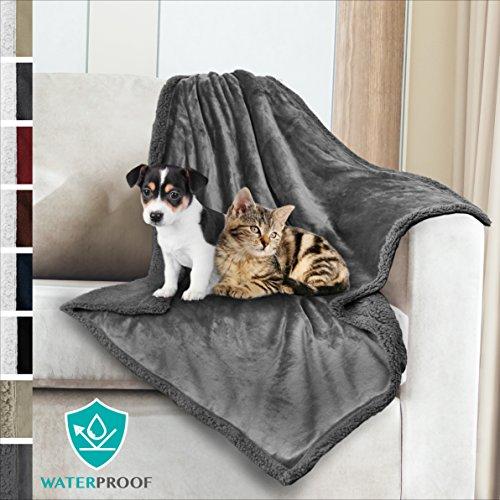 - PetAmi Premium Waterproof Soft Sherpa Pet Blanket by Cozy, Comfortable, Plush, Lightweight Microfiber, 100% WATERPROOF (30
