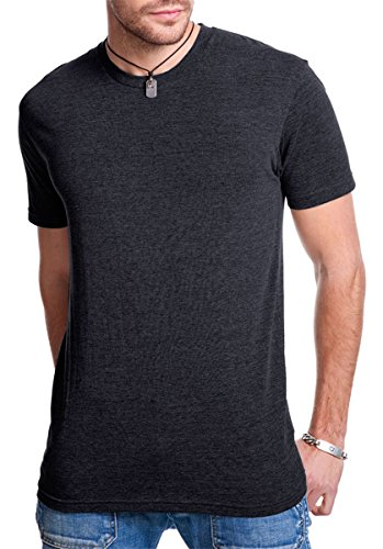 Next Level Apparel Men's Triblend Knit Crewneck T-Shirt, Vintage Blk, Medium
