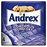 Andrex Gorgeous Comfort Quilts White Toilet Tissue Rolls - 160 Sheets per Roll (4)
