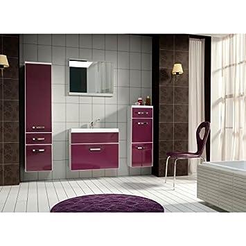 salle de bains complete aubergine/blanc JODPUR: Amazon.fr: Cuisine ...
