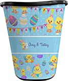 RNK Shops Happy Easter Waste Basket - Double Sided (Black) (Personalized)