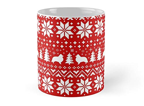 lhouettes Christmas Sweater Pattern 11oz Mug - Great gift for family and friends. ()