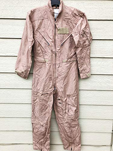 Genuine Us Air Force USAF Tan Nomex Fire Resistant Flight Suit Cwu-27/p - Size 36R ()