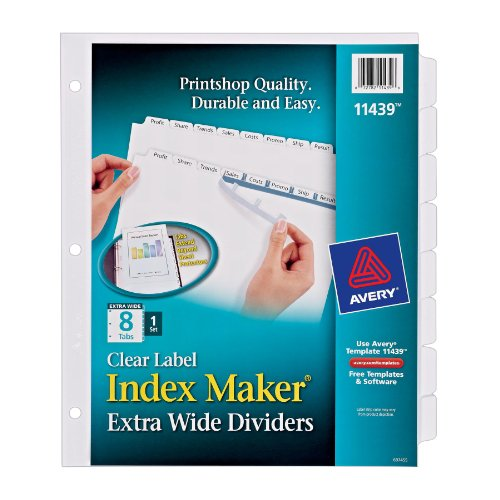 Avery Index Extra Wide Dividers 11439