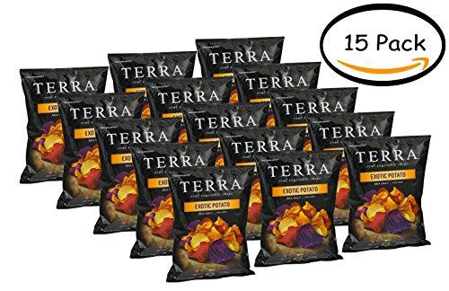 PACK OF 15 - Terra Exotic Potato Blend Sea Salt Real Vegetable Chips, 5.5 oz by Terra