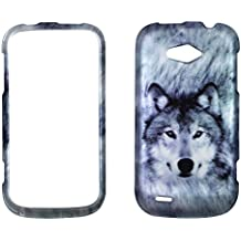2D Snow Wolf ZTE Savvy Z750c (StraightTalk) Case Cover Hard Phone Case Snap-on Cover Rubberized Touch Faceplates