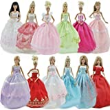 Assorted Handmade Barbie Clothes (Dress x5 & Shoes x 10)