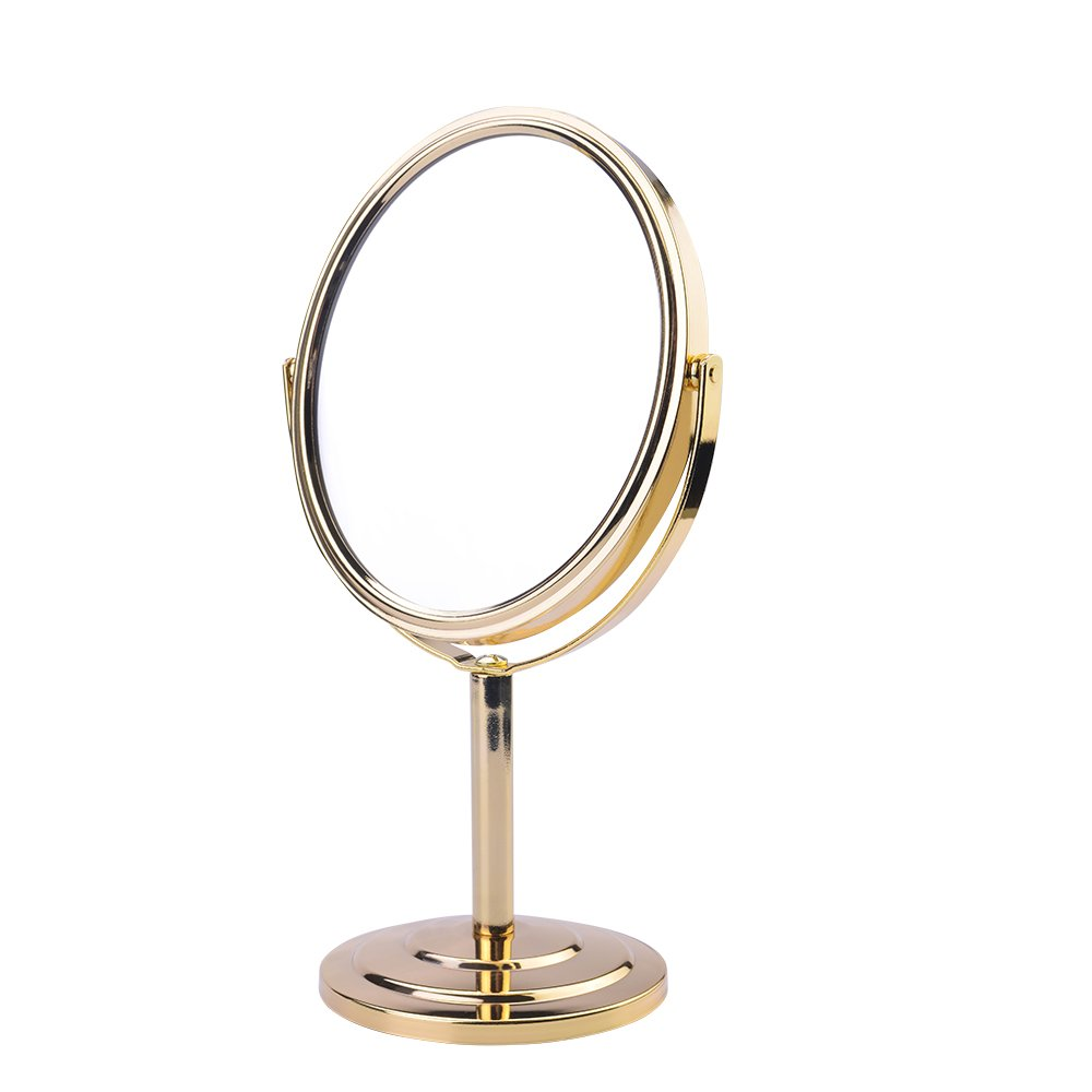 Makeup Mirror 1X/3X Rotatable Double Side Vanity Mirror for Countertop Cosmetic Makeup Mirror by ZAKIE