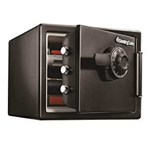 SentrySafe SFW082CTB Fireproof Waterproof Safe with Dial Combination, 0.82 Cubic Feet