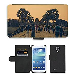 PU LEATHER case coque housse smartphone Flip bag Cover protection // M00169809 Angkor Wat en Siem Reap Angkor Turismo // Samsung Galaxy S4 S IV SIV i9500