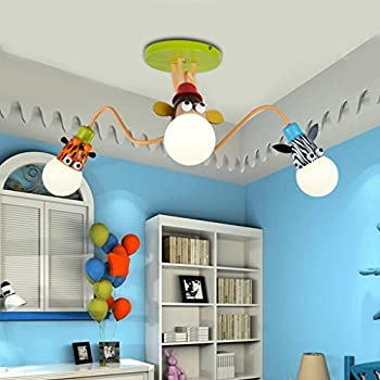 Collection Here Creative Childrens Room Lamp Bedroom Lamp Cartoon Airplane Baby Boy Kindergarten Room Ceiling Lighting Eye Latest Technology Ceiling Lights & Fans Lights & Lighting