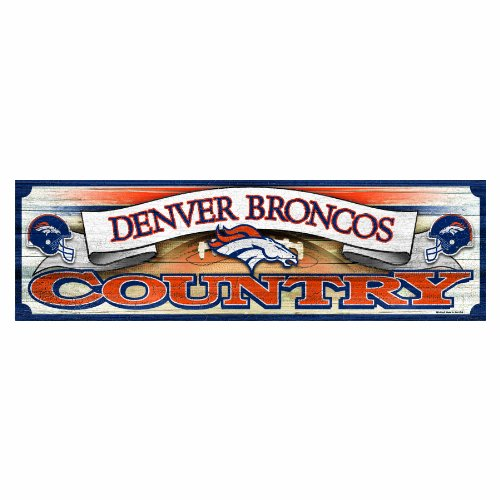 NFL Denver Broncos 9-by-30 Wood Sign Denver Broncos Nfl Precision Cut